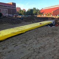 Purdue-University-STEM-Lab-Tunnel-Waterproofing-with-Cetco-Coreflex-thermal-plastic-waterproofing-
